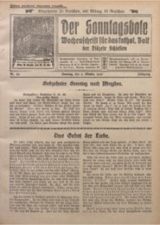 Der Sonntagsbote. Wochenschrift für das kathol. Volk der Diözese Schlesien, 1927, Jg. 3, Nr. 40