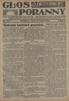 Głos Poranny, 1922, R. 1, nr 47