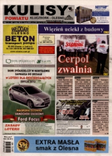 Kulisy Powiatu Kluczbork - Olesno 2013, nr 10 (482).