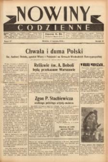 Nowiny Codzienne, 1938, R. 28, nr 87