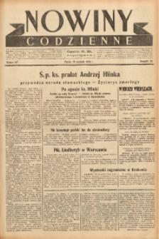 Nowiny Codzienne, 1938, R. 28, nr 187