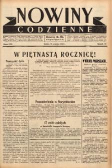 Nowiny Codzienne, 1938, R. 28, nr 206