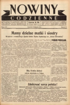 Nowiny Codzienne, 1938, R. 28, nr 257