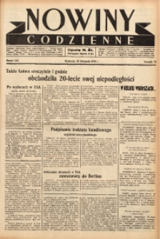 Nowiny Codzienne, 1938, R. 28, nr 265