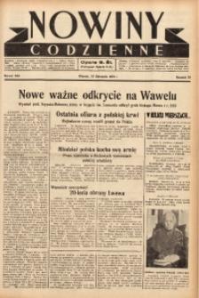 Nowiny Codzienne, 1938, R. 28, nr 266