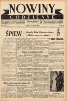 Nowiny Codzienne, 1938, R. 28, nr 271