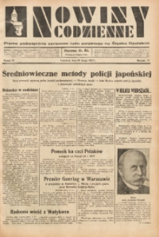 Nowiny Codzienne, 1937, R. 27, nr 39