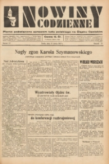 Nowiny Codzienne, 1937, R. 27, nr 72