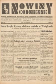 Nowiny Codzienne, 1937, R. 27, nr 86