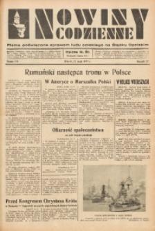 Nowiny Codzienne, 1937, R. 27, nr 116