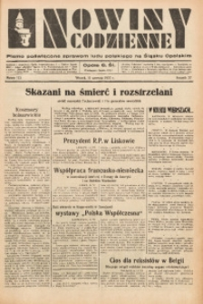 Nowiny Codzienne, 1937, R. 27, nr 133