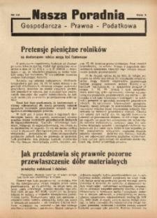 Nasza Poradnia, 1936, R. 3, nr 14