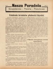 Nasza Poradnia, 1938, R. 5, nr 7
