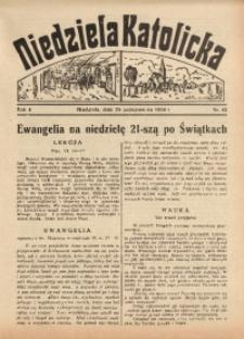 Niedziela Katolicka, 1936, R. 4 [właśc. 5], nr 43