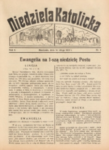 Niedziela Katolicka, 1937, R. 5 [właśc. 6], nr 7