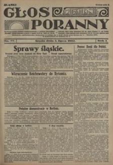 Głos Poranny, 1922, R. 1, nr 77