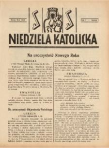 Niedziela Katolicka, 1939, R. 7 [właśc. 8], nr 1
