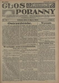 Głos Poranny, 1922, R. 1, nr 80