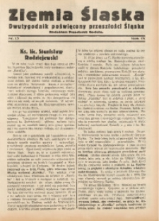 Ziemia Śląska, 1935, R. 9, nr 13