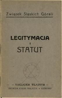 Legitymacja i statut, [1931] / Związek Śląskich Górali