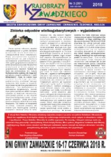 Krajobrazy Zawadzkiego : gazeta samorządowa gminy Zawadzkie : Zawadzkie, Żędowice, Kielcza 2018, nr 3 (201).