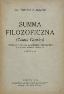 Summa filozoficzna (Contra Gentiles). Księga IV