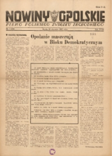 Nowiny Opolskie, 1947, R. 31, nr 3