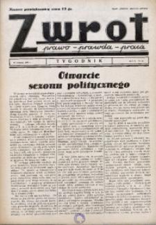Zwrot. Prawo, prawda, praca, 1938, R. 2, nr 31