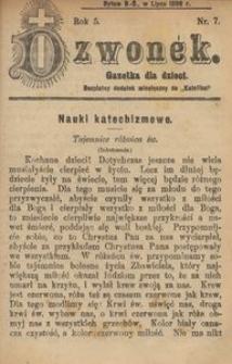 Dzwonek, 1898, R. 5, nr 7