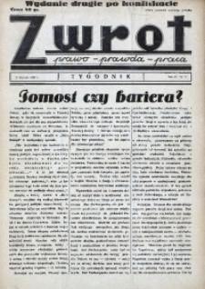 Zwrot. Prawo, prawda, praca, 1939, R. 3, nr 2. - Wyd. 2 po konfiskacie