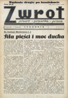 Zwrot. Prawo, prawda, praca, 1939, R. 3, nr 3. - Wyd. 2 po konfiskacie