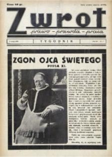 Zwrot. Prawo, prawda, praca, 1939, R. 3, nr 7