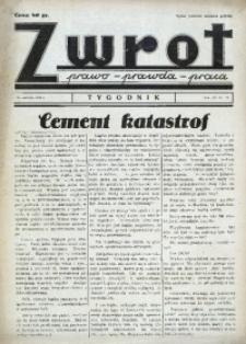 Zwrot. Prawo, prawda, praca, 1939, R. 3, nr 22