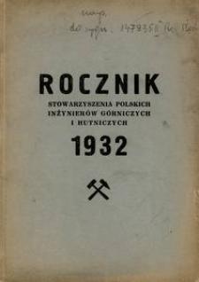 Sprawozdanie z Działalności Stowarzyszenia Polskich Inżynierów Górniczych i Hutniczych za Rok 1932