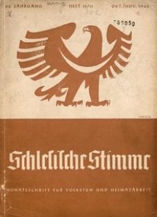 Schlesische Stimme, 1940, Jg. 22, H. 10/11