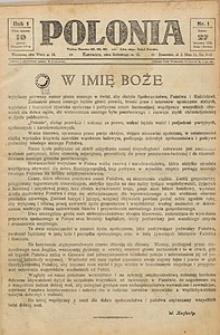 Polonia, 1924, R. 1, nr 1