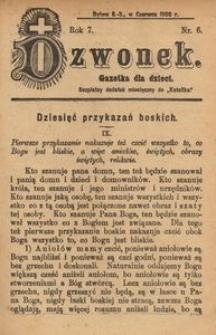 Dzwonek, 1900, R. 7, nr 6