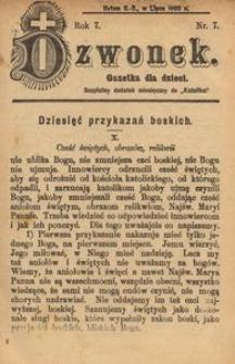Dzwonek, 1900, R. 7, nr 7