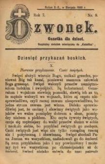 Dzwonek, 1900, R. 7, nr 8