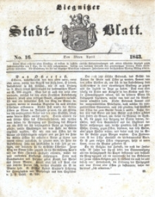 Liegnitzer Stadt-Blatt, 1843, No. 16