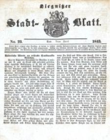 Liegnitzer Stadt-Blatt, 1843, No. 23