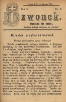 Dzwonek, 1901, R. 8, nr 8