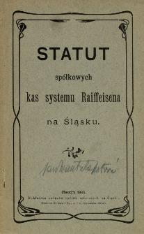 Statut spółkowej kasy oszczędności i pożyczek w ... spółki zarejestrowanej z nieograniczoną poręką, 1905