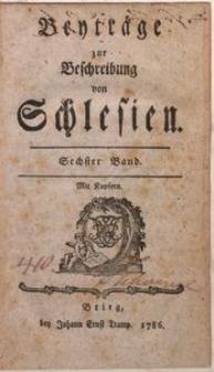 Beyträge zur Beschreibung von Schlesien. Bd. 1-13