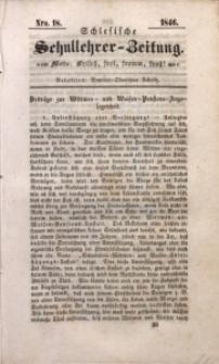 Schlesische Schullehrer-Zeitung, 1846, Jg. 4, Nro. 18