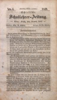 Schlesische Schullehrer-Zeitung, 1849, Jg. 7, Nro. 4