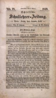 Schlesische Schullehrer-Zeitung, 1849, Jg. 7, Nro. 18