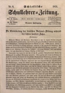 Schlesische Schullehrer-Zeitung, 1851, Jg. 9, Nr. 6
