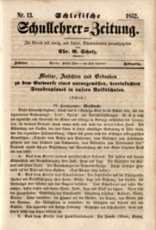 Schlesische Schullehrer-Zeitung, 1852, Jg. 10, Nr. 13