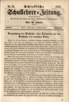 Schlesische Schullehrer-Zeitung, 1852, Jg. 10, Nr. 23